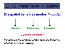 12.3 The present subjunctive