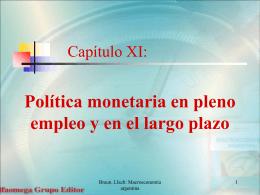 Capítulo XI: Política monetaria en pleno empleo y en el largo plazo