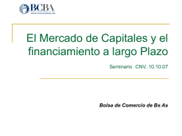 Financiamiento a Largo Plazo.