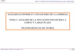 Análisis de la situación financiera a corto y a largo plazo