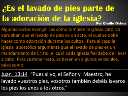 El Lavado De Pies - Church of Christ