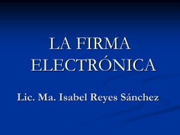 ¿Cómo funciona la firma electrónica?