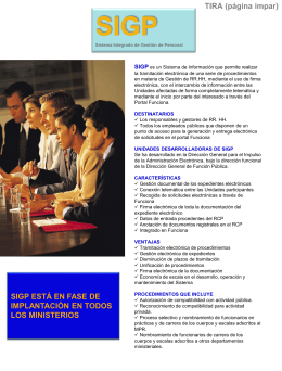 SIGP - Portal administración electrónica