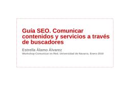 Guía SEO. Comunicar contenidos y servicios a través de buscadores