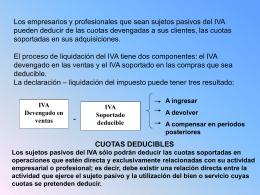 Los empresarios y profesionales que sean sujetos pasivos del IVA