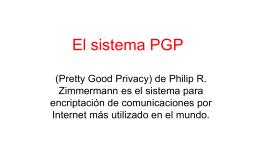 El sistema PGP