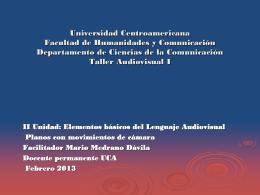 movimientos de càmara - Universidad Centroamericana