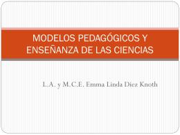 MODELOS PEDAGÓGICOS Y ENSEÑANZA DE LAS CIENCIAS