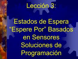 Soluciones de Programación: Sensores Espera-por