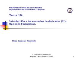 Opciones financieras - OCW - Universidad Carlos III de Madrid