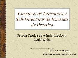 Concurso de Directores y Sub