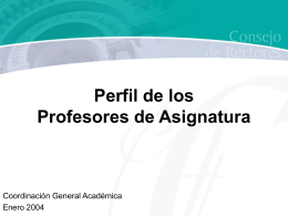 6b. Profesores de asignatura