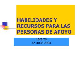 Habilidades y recursos - FEAPS Región de Murcia