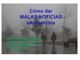 Cómo dar MALAS NOTICIAS en medicina Mariana Martínez