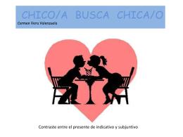 CHICO/A BUSCA CHICA/O