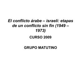 El conflicto árabe – israelí: etapas de un conflicto sin fin (1949 – 1973)