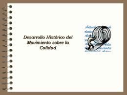 Desarrollo histórico del mov sobre la CALIDAD