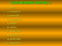 LISTOS 3: VOCABULARIO (a)