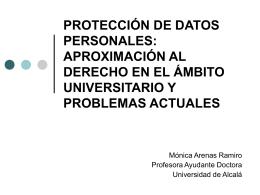 los principios generales de la protección de datos personales