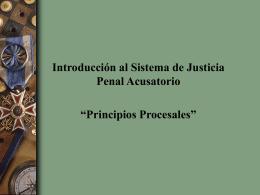 Principios Procesales - Poder Judicial del Estado de Coahuila
