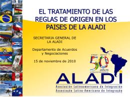 REGLAS DE ORIGEN EN LA ALADI 151110