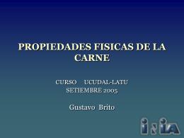 PROPIEDADES FISICAS DE LA CARNE