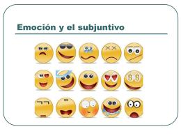 Emoción y el subjuntivo