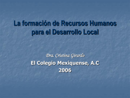 Diseño de una Maestría en Agentes de Desarrollo Social