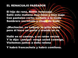 EL RENACUAJO PASEADOR
