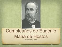 Cumpleaños de Eugenio Maria de Hostos