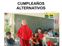 CUMPLEAÑOS ALTERNATIVOS
