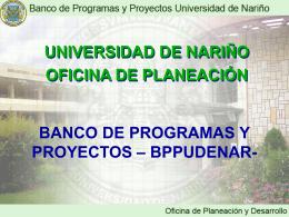banco de programas y proyectos –bppudenar