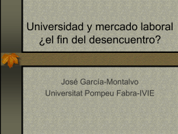 Universidad y mercado laboral ¿el fin del