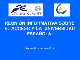 reunion acceso a la universidad española 2015