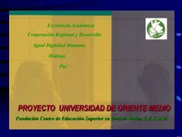 PROYECTO DE LA UNIVERSIDAD DE ORIENTE MEDIO