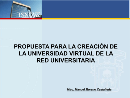 Propuesta para la creación de la Universidad Virtual de la Red