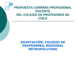 Carrera Profesional Docente - Colegio de Profesores de Chile