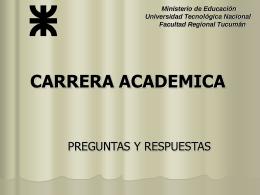 carrera academica - Facultad Regional Tucumán