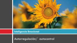 Autorregulación/ Autocontrol