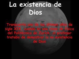 3- La existencia de Dios