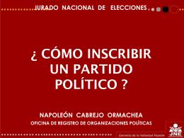 Cómo inscribir un Partido Político - JNE