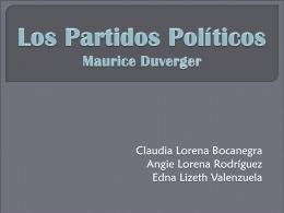 Partidos Políticos[1]