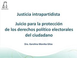 Justicia Intrapartidista - Instituto Estatal Electoral y de Participación
