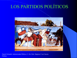 """El partido como """"empresa política"""" Para"""