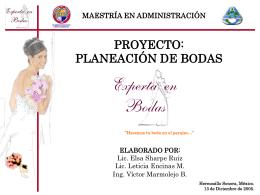 proyecto: planeación de bodas