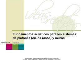 Fundamentos acústicos para los sistemas de plafones
