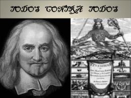 T. Hobbes es, ante todo, conocido por su teoría