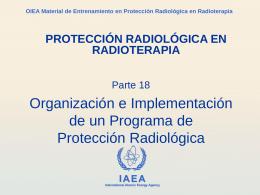 Programa de Protección Radiológica