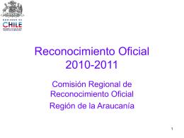 Reconocimiento oficial Power 2010
