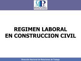 Condiciones de Trabajo en Construcción Civil